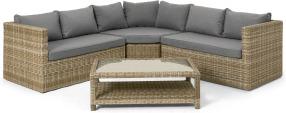 An Image of Garden Corner Lounge Set, Natural