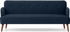 An Image of Elvi Click Clack Sofa Bed, Sapphire Blue Velvet