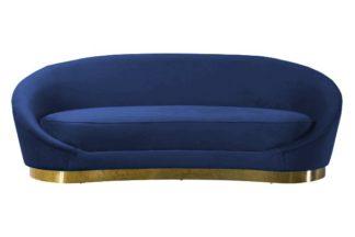 An Image of Selini Three Seat Sofa - Navy Blue