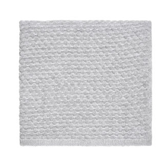 An Image of Peacock Blue Hotel Real Knit Throw - 130x150cm - White