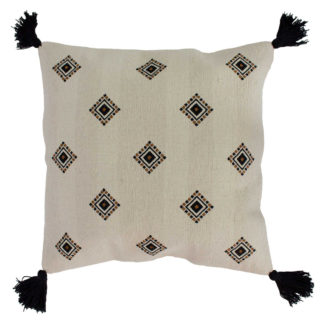An Image of Embroidered Tassel Cushion