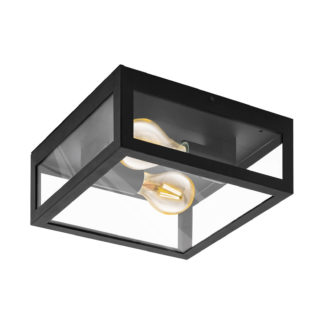An Image of Eglo Alamonte 1 Outdoor Wall Light - Black