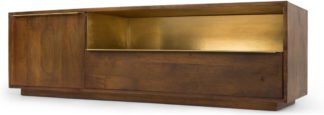 An Image of Anderson TV Stand, Mango Wood & Brass