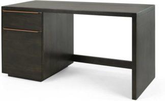 An Image of Anderson Desk, Mocha Mango Wood & Copper