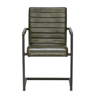 An Image of Brutus Leather Dining Chair