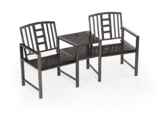 An Image of Greenhurst Hartlebury Steel Love Seat Chair