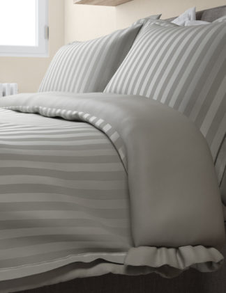 An Image of M&S Autograph Unisex Pure Cotton Double Cuff Bedding Set