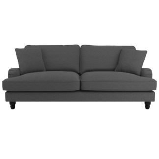 An Image of Beatrice Fabric 4 Seater Sofa Charcoal