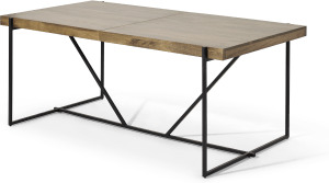 An Image of Morland 6-8 Seat Extending Dining Table, Mango Wood