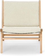 An Image of Rami Accent Armchair, Faux Sheepskin & Natural
