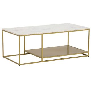 An Image of Alba Coffee Table, White Marble