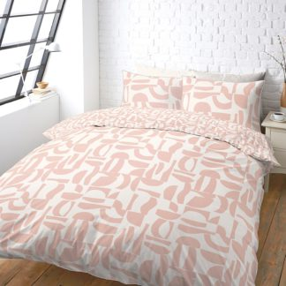 An Image of House Beautiful Large Geo Print Bedding Set - Double
