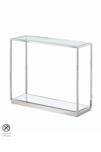 An Image of Rippon Silver Rectangular Console Table