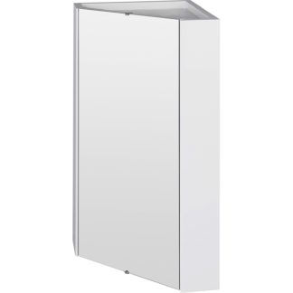 An Image of Balterley Orbit Corner Mirror Cabinet - Gloss White