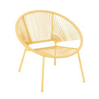 An Image of Homebase Acapulco Garden Chair - Yellow