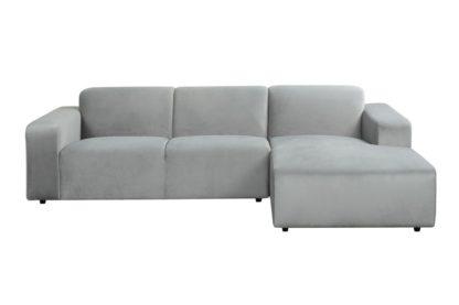 An Image of Pebble Right hand Corner Sofa - Dove Grey