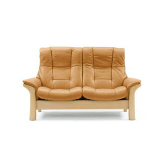 An Image of Stressless Buckingham High Back 2 Seater, Choice of Leather