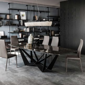 An Image of Cattelan Italia Skorpio Keramik Rectangular Table