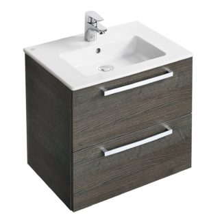 An Image of Ideal Standard Tempo 50cm Vanity Unit Pack - Lava Grey