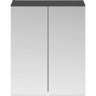 An Image of Balterley Rio 600mm Mirror Unit 50/50 - Gloss Grey