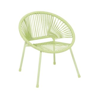 An Image of Homebase Acapulco Kids Chair - Green