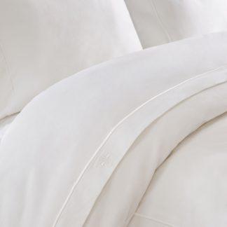 An Image of Dorma Egyptian Cotton 1000 Thread Count Cream Flat Sheet White