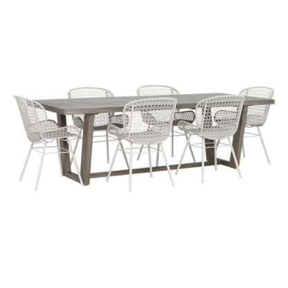 An Image of Kos 6 Seat Garden Dining Set with Faro Chairs
