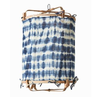 An Image of Hanging Tie Dye Decorative Shade, Blue