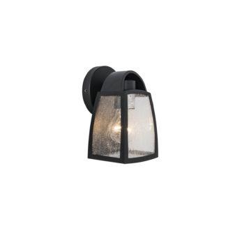An Image of Lutec Kelsey Outdoor Wall Lantern In Black