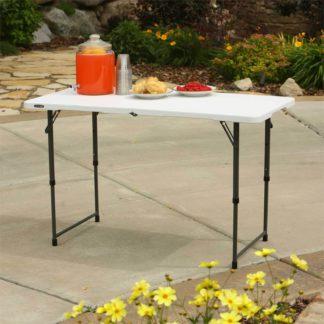 An Image of Lifetime Seasonal Folding Party Trestle Table - 1.22m / 4ft