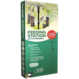 An Image of Peckish Wild Bird Feeding Stations with 4 Feeders