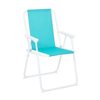 An Image of Homebase Bahari Picnic Chair - Blue