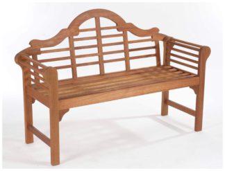 An Image of Lutyens Style Hardwood Garden Bench - Natural.