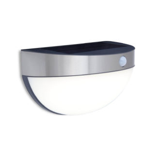 An Image of Lutec Bubble Solar LED Outdoor Wall Light With PIR Motion Sensor