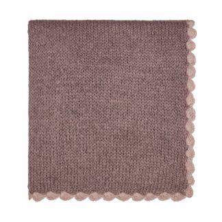 An Image of Scala Knit Throw 130X170cm Heather
