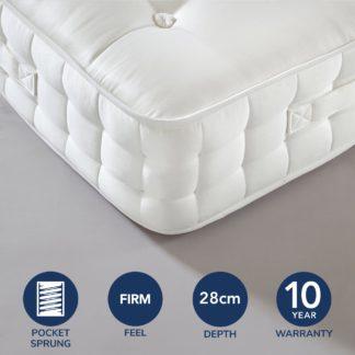 An Image of Dorma 1000 Pocket Sprung Mattress White