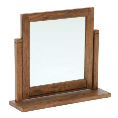 An Image of New Frontier Mango Wood Gallery Mirror