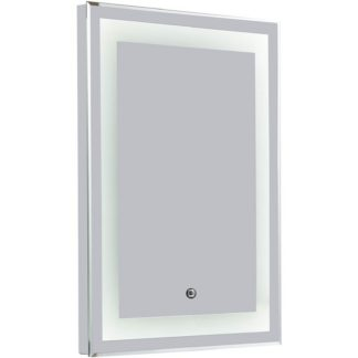 An Image of Croydex Rookley Illuminated Bathroom Mirror