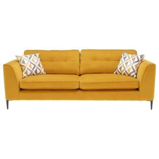 An Image of Conza Extra Large Sofa, Plush Turmeric