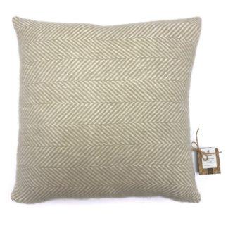 An Image of Country Living Wool Herringbone Cushion - 50x50cm - Ash Rose