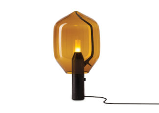 An Image of Established & Sons Lighthouse Table Lamp Amber Glass