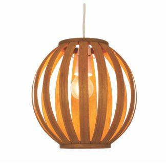 An Image of Ben Round Bamboo Lamp Shade
