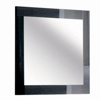 An Image of Borgia Bedroom Mirror, Grey High Gloss