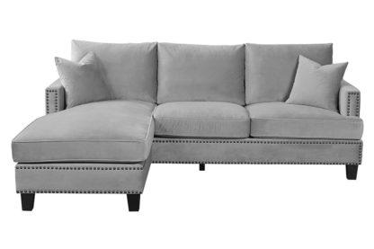 An Image of Brunswick Universal Corner Sofa – Dove grey