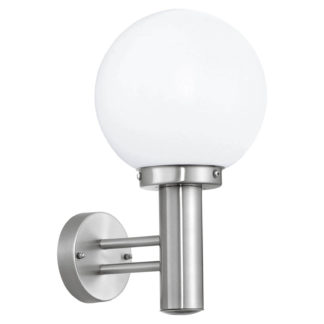 An Image of Eglo Nisia Outdoor Wall Light - Stainless Steel