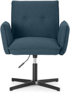An Image of Denham Office Chair, Orleans Blue with Black Legs
