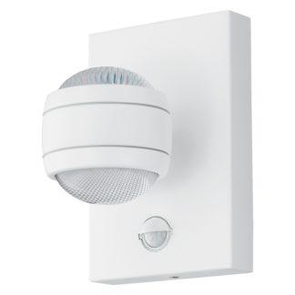 An Image of EGLO Sesimba 1 LED Sensor Outdoor Wall Light - White