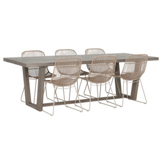 An Image of Kos 6 Seat Garden Dining Set with Palma Chairs