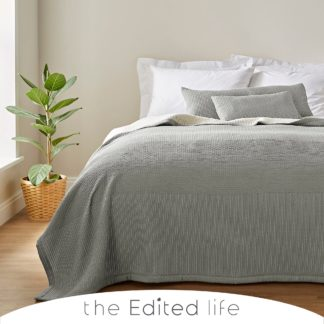 An Image of Silas 100% Organic Cotton Throw Light Grey