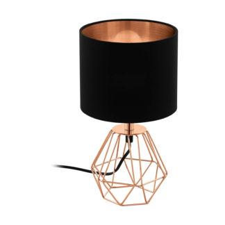 An Image of Eglo Carlton 2 Table Lamp - Copper